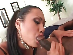 Slutty looking asian sucks black dick sensually tubes