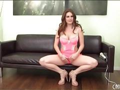 Porn goddess allison moore in hot pink lingerie tubes