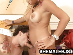 Kyara dias - handjob and blowjob combo from shemale tubes