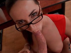 Sexy red dress on cocksucking paige turnah tubes