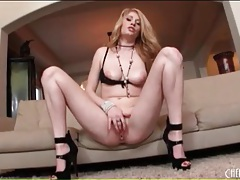 Allie james drops her panties and masturbates tubes
