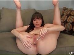 Dana dearmond ass fucks glass dildo tubes