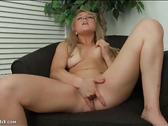 Valerie white fingers cunt and gropes her tits tubes