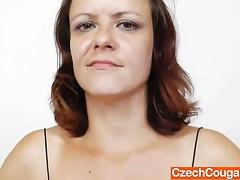Horny mama masturbating plus a plastic penis tubes