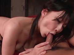 Dick and balls sucked by japanese cutie tubes