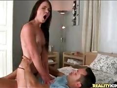 Tight body girl likes hard fucking on top tubes