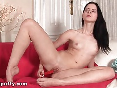 Pretty fingernails on girl fucking a toy tubes