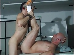 Daddy bottom has arousing anal sex tubes