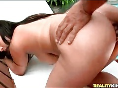 Poolside cock ride sex with curvy latina tubes