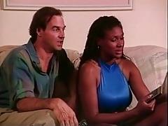 Big tits of black girl sucked on lustily tubes