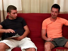 Slim gay guy gives a deepthroat blowjob tubes