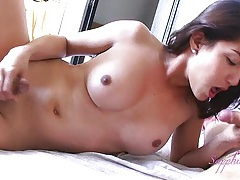 Amateur asian shemale gets a happy ending morning wakeup tubes
