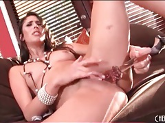 Gorgeous solo anna morna fucks a toy tubes