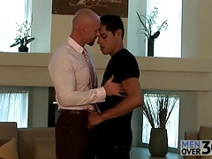 Home from work for sexy gay kissing tubes