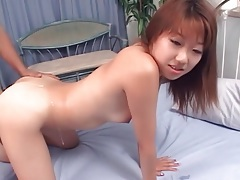 Asian fucked with cumshot on her sexy ass tubes
