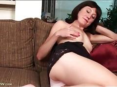 Skinny mom cutie strips solo and masturbates tubes