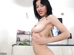 Slutty solo babe with gorgeous big tits she gropes tubes