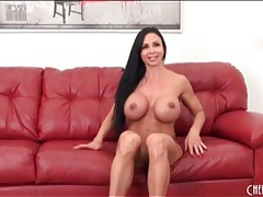 Jewels jade strips off tight dress and masturbates tubes