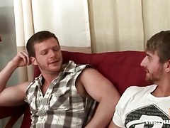 Thick man with a beard gets a blowjob tubes