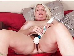 Mature with nipple rings strips and masturbates tubes