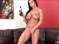 Sexy jewels jade fucks pussy with a dildo tubes