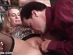 Well dressed man eats out slutty sara james tubes