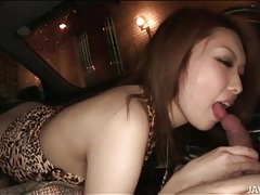 Rinka kanzaki sucks dick in the car tubes