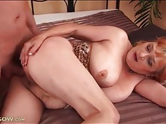 Chubby redhead mature with big tits fucked tubes