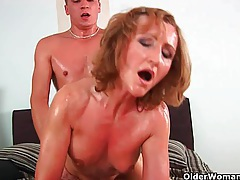 Grandma with cute titties gets fucked by guy half her age tubes