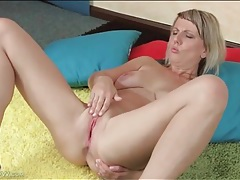 Aroused blonde angel fingers her ass and pussy tubes