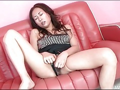 See soaking wet japanese vagina take a dildo tubes