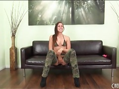 Rilynn rae looks great in her camo clothes tubes