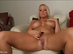 Curvy mom with fantastic implants masturbates tubes