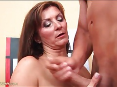 Milf pounded from behind gets a hot facial tubes