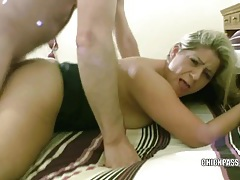 Blonde hottie lleia takes some dick in her tight ass tubes
