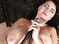Big body milf masturbates her wet gash tubes