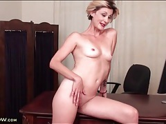 Blonde jayden monroe is naked in the office tubes