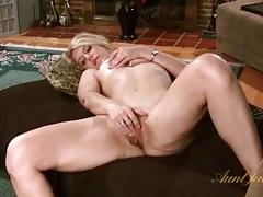 Blonde milf fondles tits and masturbates pussy tubes