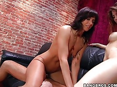 Jenni lee and friend ride dick together tubes