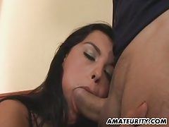 Busty amateur girlfriend anal action with cumshot tubes