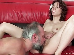 Grandpa cums inside young cunt he fucks tubes