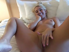 Aaliyah love rubs her shaved pussy in close up tubes