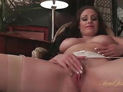 Sophia delane in sexy stockings and lingerie tubes