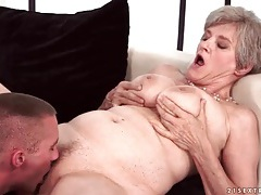 Big tits granny gives a sexy blowjob tubes
