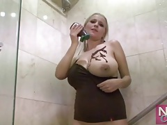 Niki castro covers tits in chocolate sauce tubes