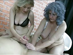 Older sluts with saggy tits make his cock cum tubes