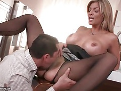 Hot housewife with big tits eaten out tubes