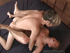 Two sexy shaved boys have hot anal sex tubes