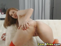 Beautiful coed redhead masturbating tubes