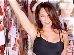 Destiny dixon strips off lingerie and models body tubes